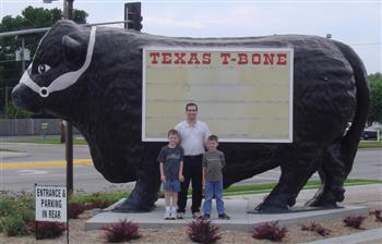 Dinner at the Texas T-Bone, Grand Island, Nebraska